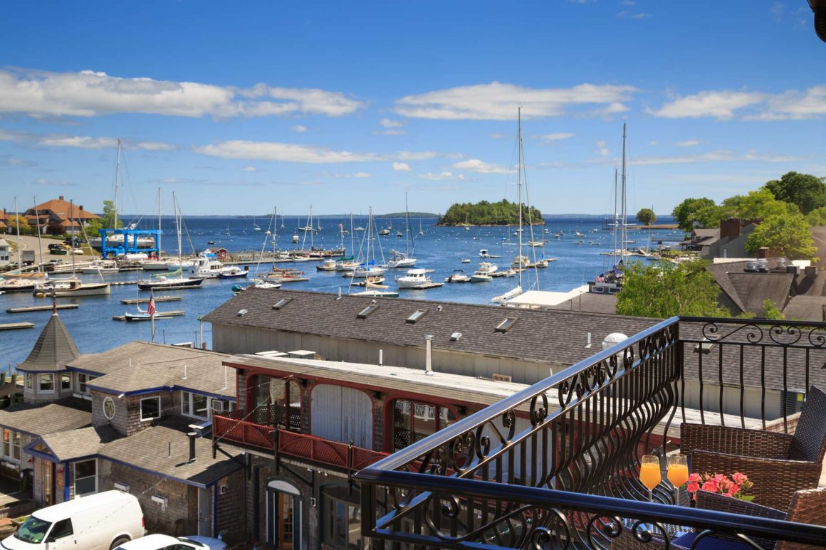Camden Harbor Suite Balcony View