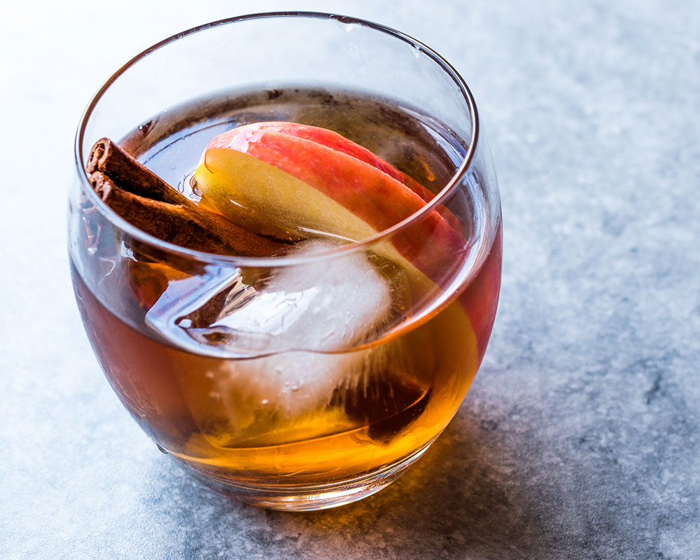 Bourbon and local apples
